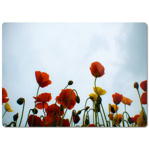 "Glass Cutting Board ""Poppies"""