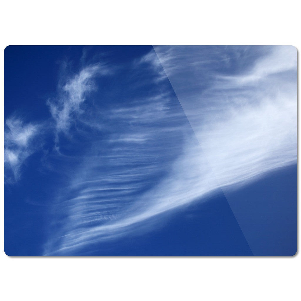 "Glass Cutting Board ""Clouds"""