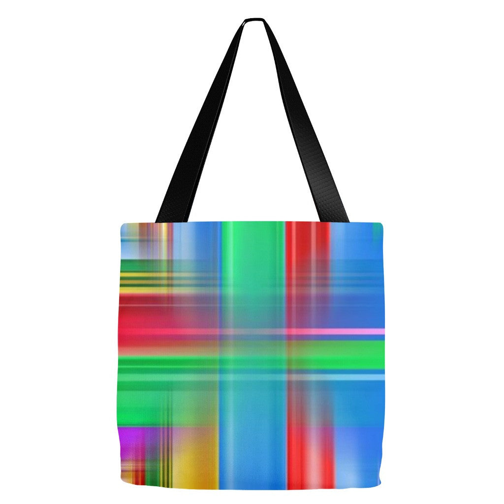 Plaid Tote Bag 18 x 18""