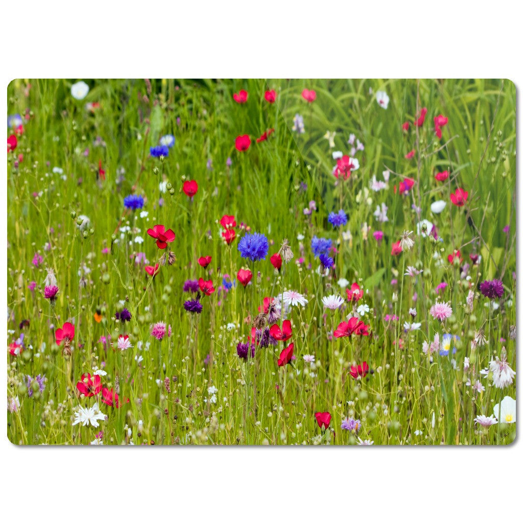"Glass Cutting Board ""Wild Flowers"""