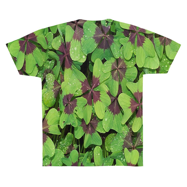 4 Leaf Clover All Over Print Unisex AOP Sublimation Tee