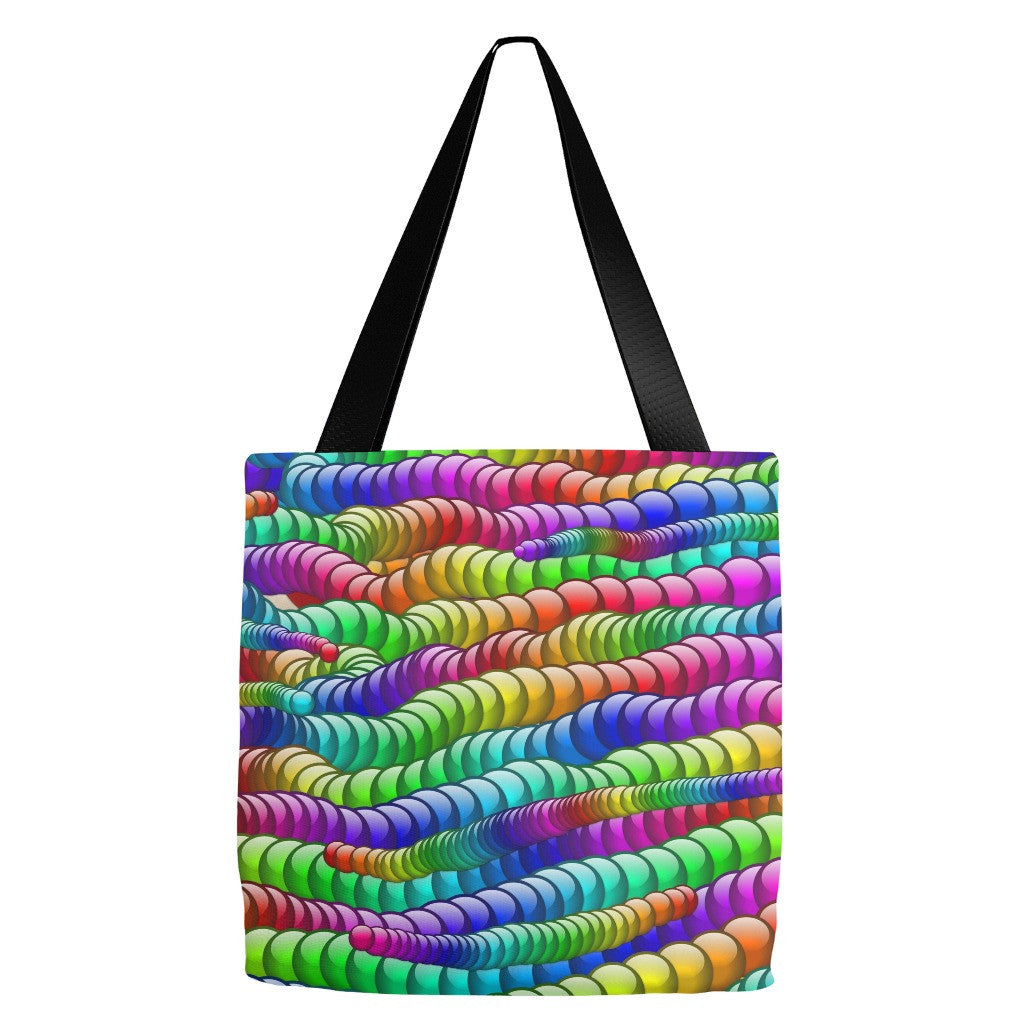 Multi-color Abstract Tote Bag 18 x 18""