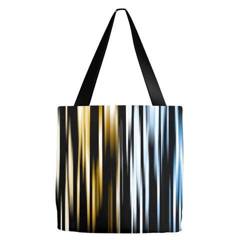 Abstract Stripped Tote Bag 18 x 18""