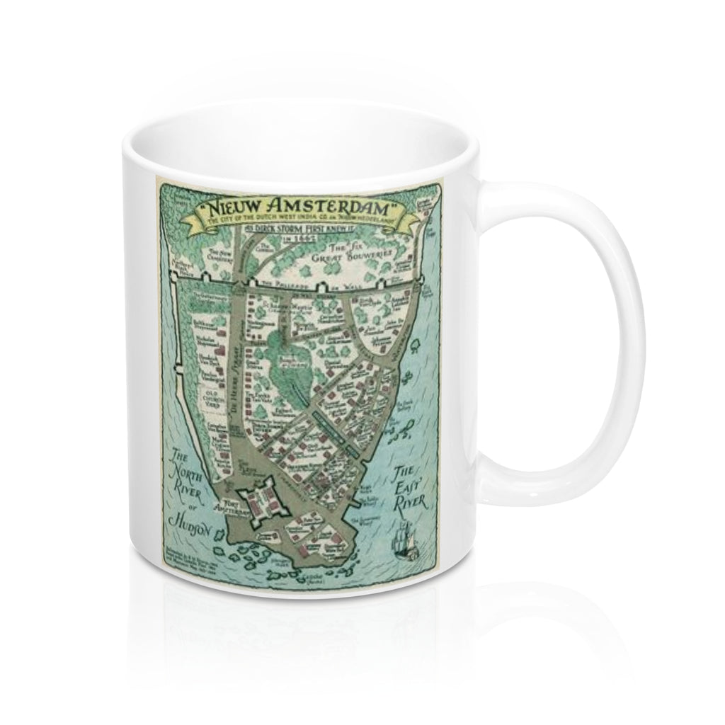 Vintage New Amsterdam Map Mug 11oz