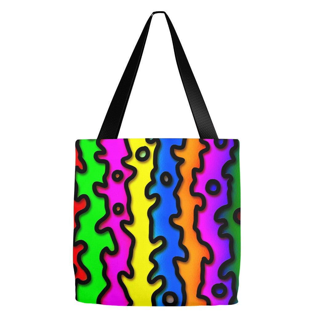 Abstract Print Tote Bag 18 x 18""