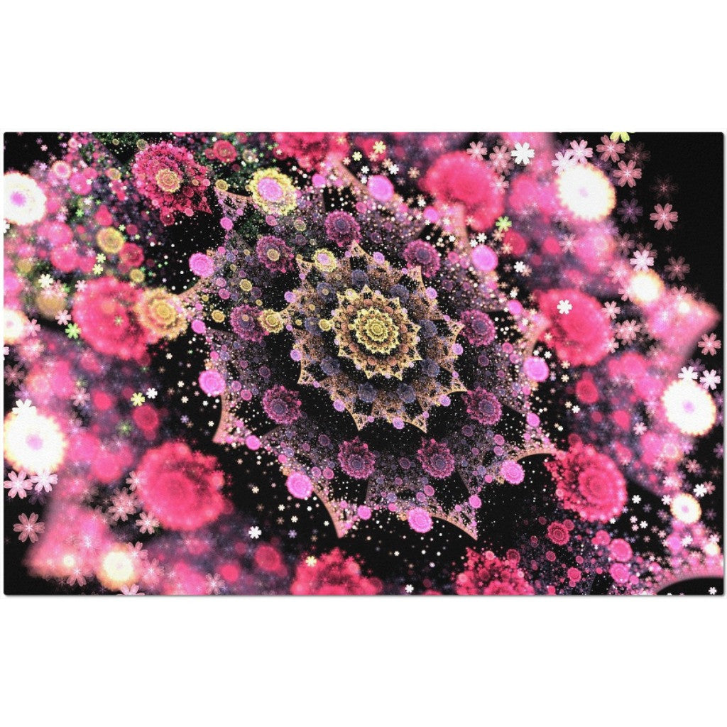 Laminated Flowers Placemat 11 x 17""