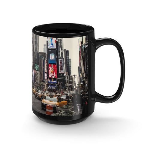 New York City Photo Black Mug, Times Square Photo Mug, NYC Tourism Mug 15oz