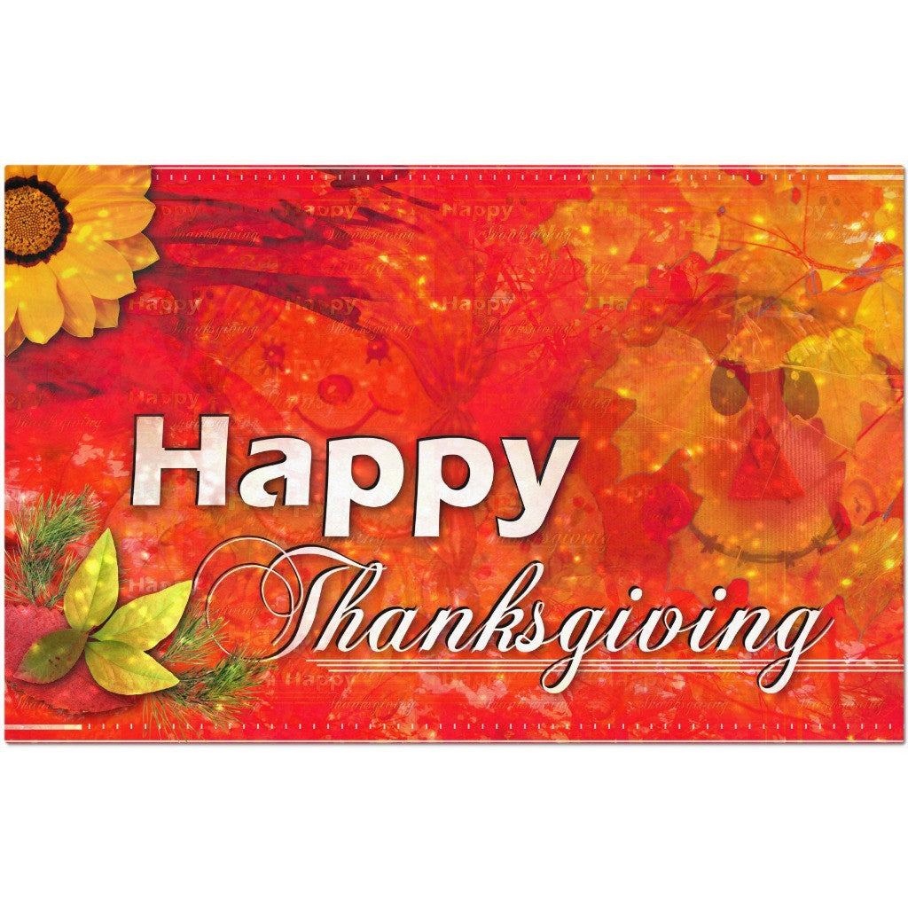 Laminated Thanksgiving Placemat 11 x 17""