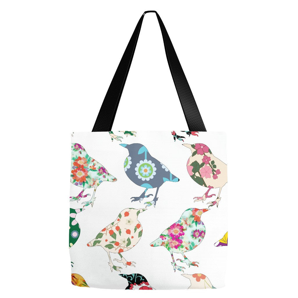 Floral Birds Tote Bag