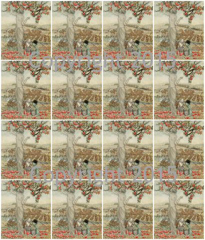 A Dish of Apples Images #1  by Aruthur Rackham Collage Sheet