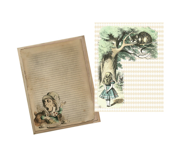 Alice in Wonderland #2 : 8 Journal or Scrapbook Pages