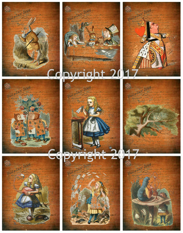 Wonderland # 6 by John Tenniel   Collage Sheet