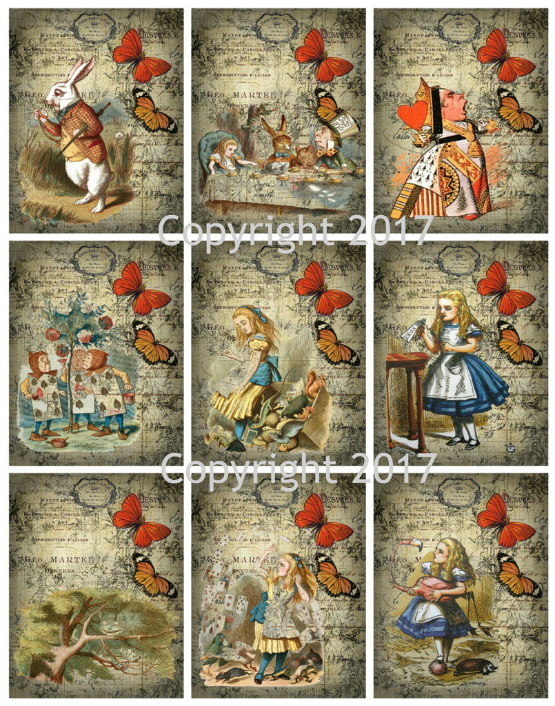 Wonderland #7 by John Tenniel   Collage Sheet