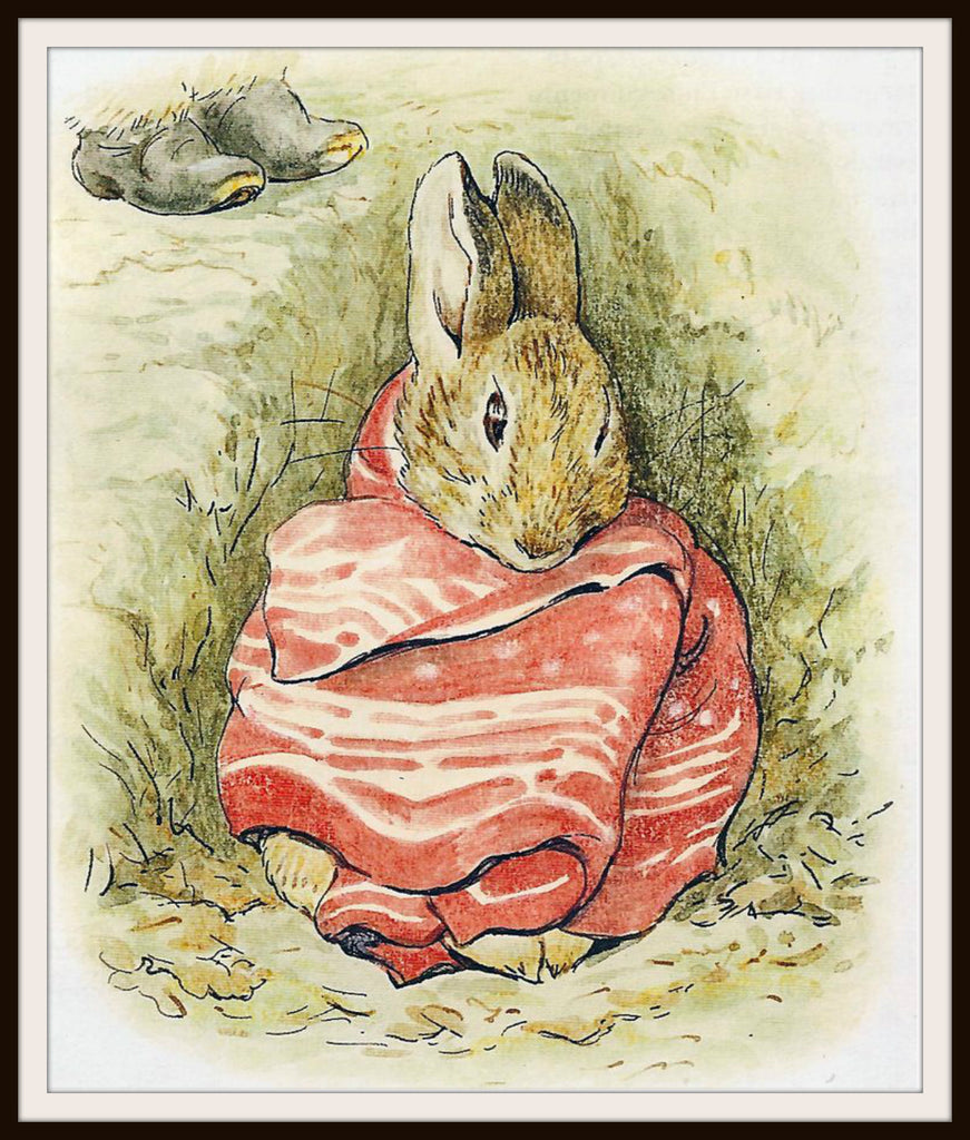 Peter Rabbit in a Handkerchief by Beatrix Potter Art Print 8 x 10""