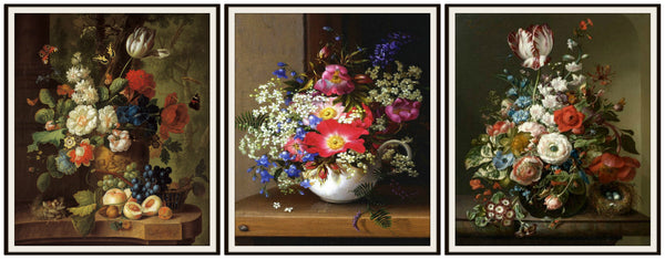 "Set of 3 Floral Botanical Fine Art Roses Print Reproductions by Gerard van Spaendonck, Unframed 8 x 10"" or 11 x 14 Wall Decor"