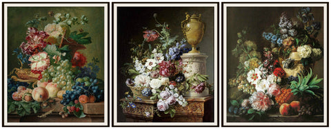 "Set of 3 Floral Botanical Fine Art Print Reproductions by Gerard van Spaendonck, Unframed 8 x 10"" or 11 x 14 Wall Decor"