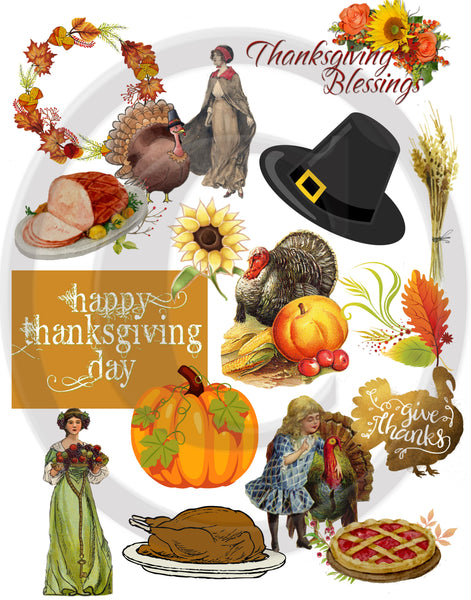 Thanksgiving Scrapbook Kit Instant Download