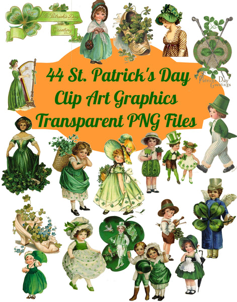 44 Celtic Saint Patricks Day Images Clip Art Transparent PNG Files Instant Download, Scrapbooking, Card making, digital