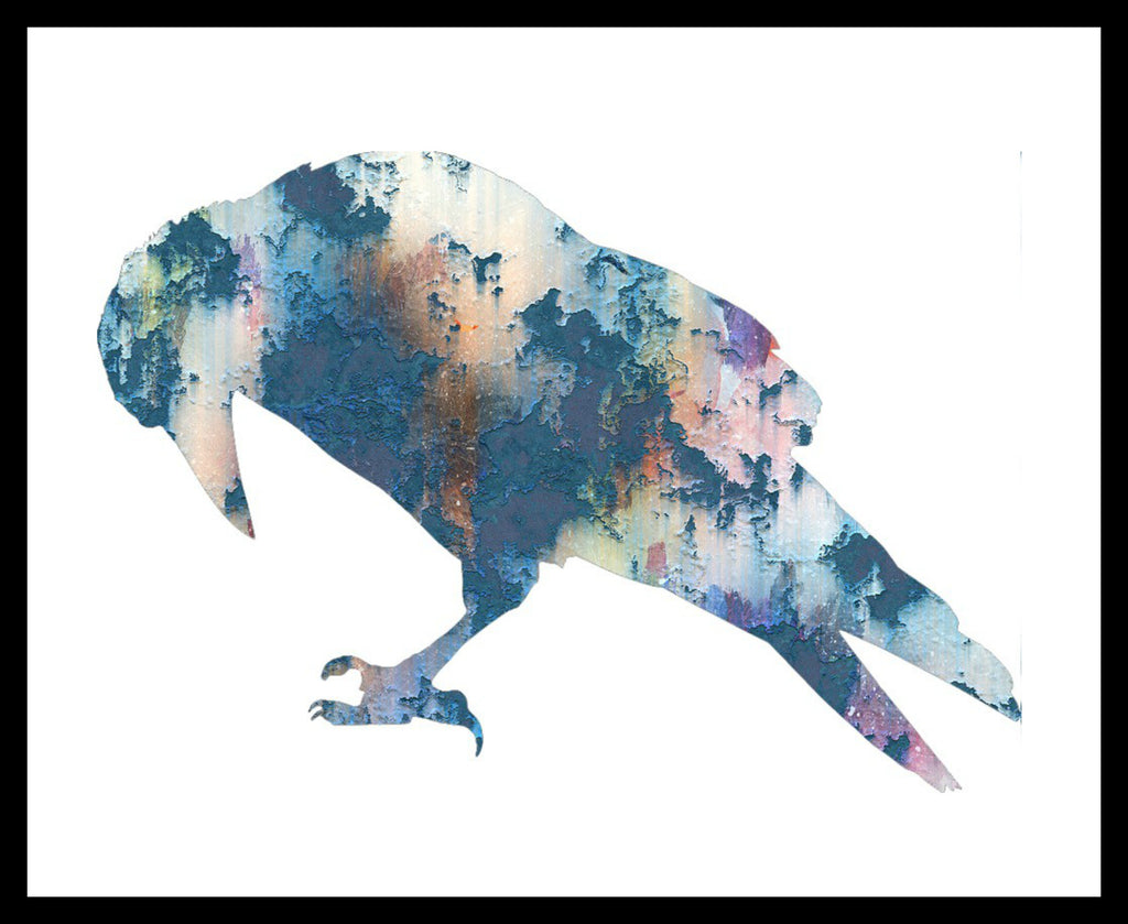 Printed Watercolor Art Priint Raven Poster Art Image Unframed