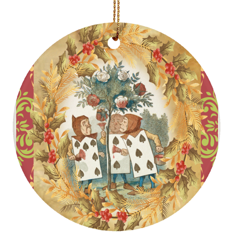 Alice in Wonderland  Ceramic Circle Ornament 3""