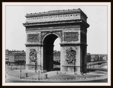 "Photograph Wall Decor  ""Arch De Triumph""  8 x 10 Photo Print  Unframed"