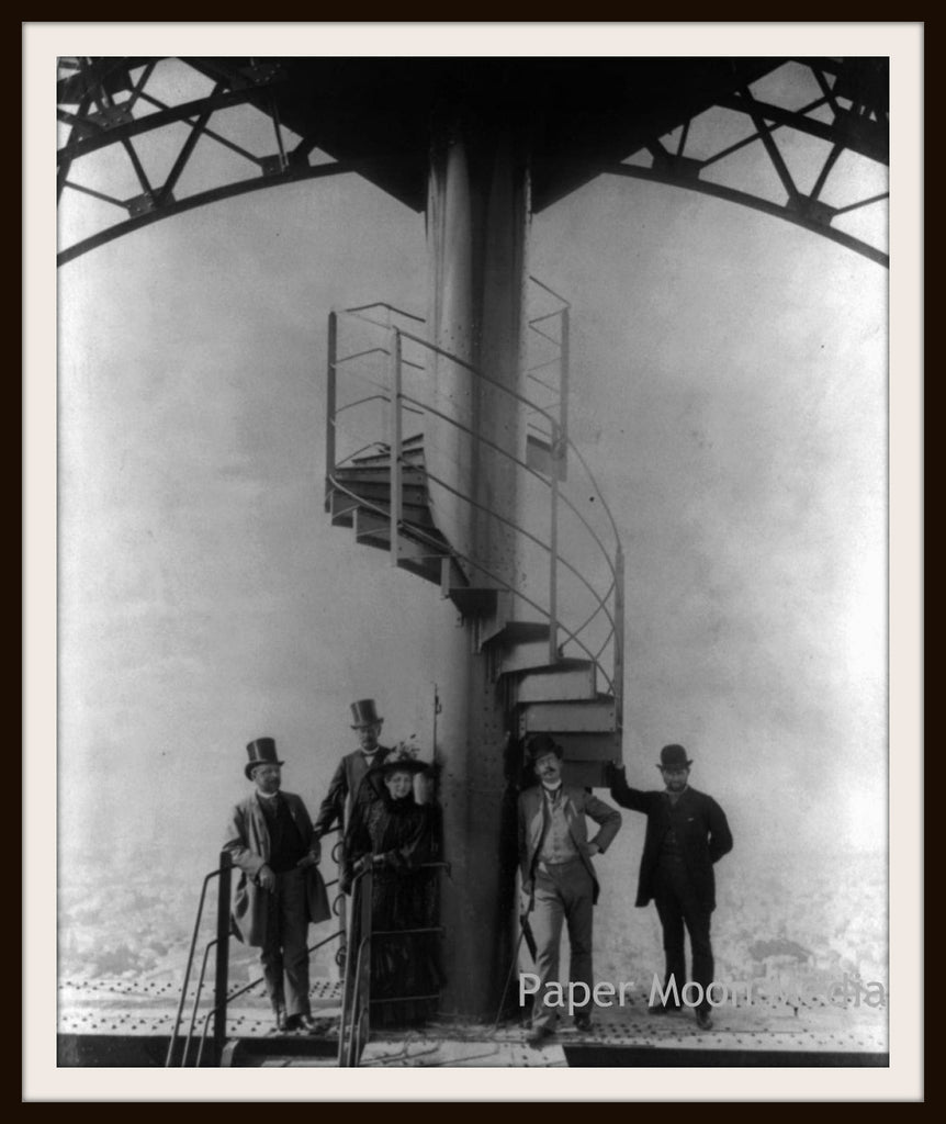 "Photograph Wall Decor ""Eiffel Tower Construction""    8 x 10 Photo Print  Unframed"