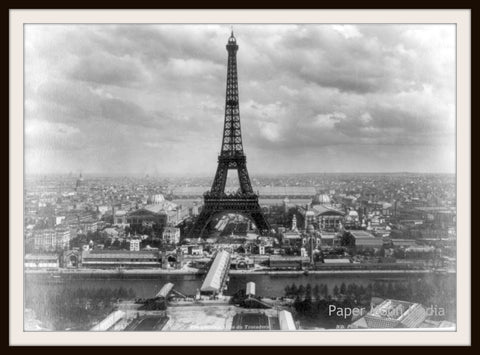"Photograph Wall Decor  ""Eiffel Tower 1889""  8 x 10 Photo Print  Unframed"