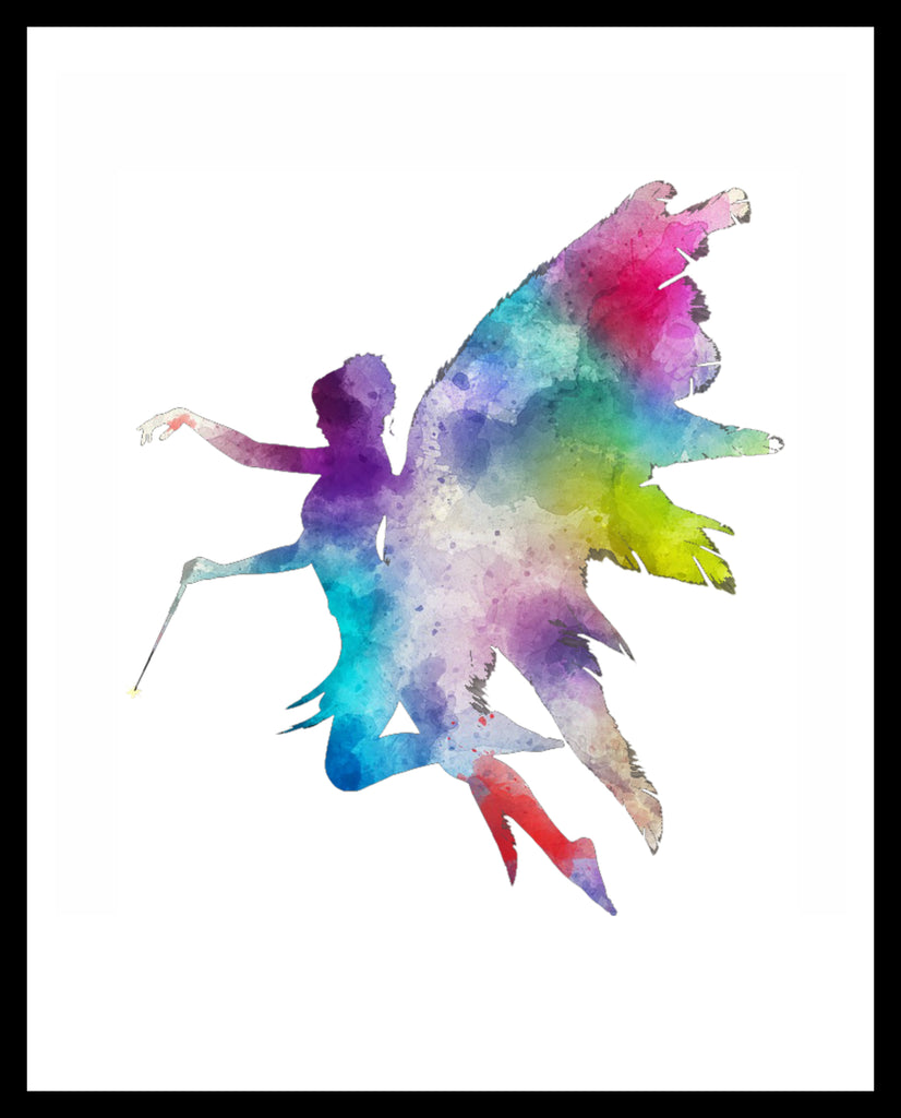 Printed Watercolor Art Print Fairy Poster Art Image Unframed