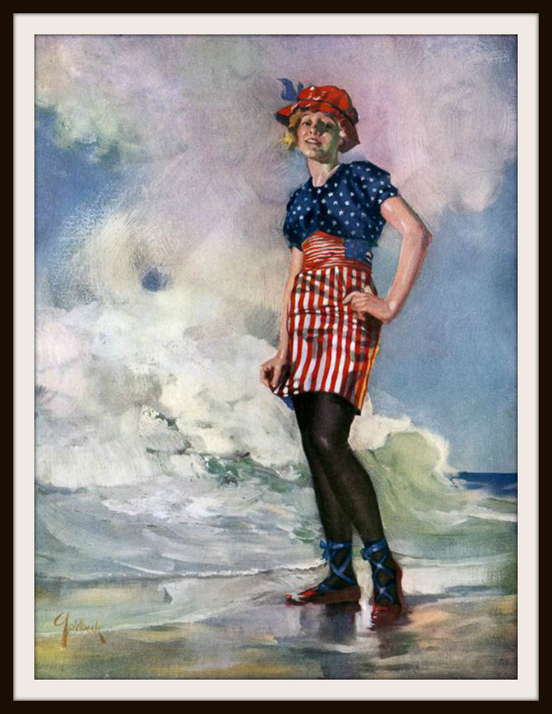 Vintage Poster Art Poster  Follow the Flag 8.5 x 11""