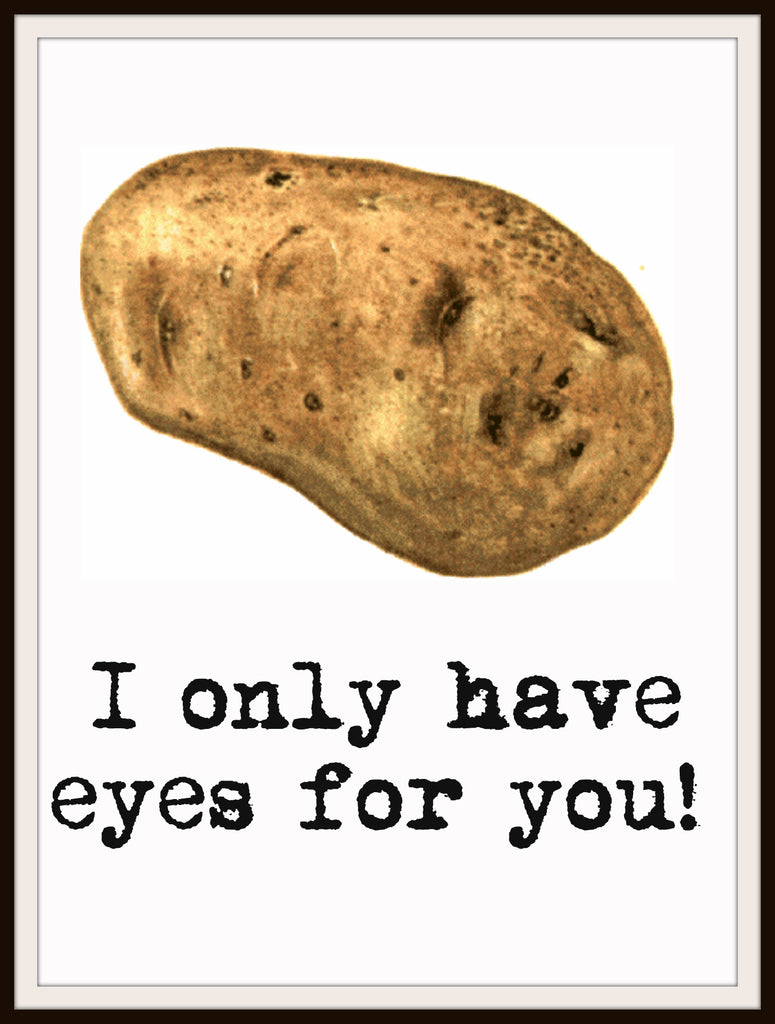 "Motivational Art Print ""I Only Have Eyes For You"", Wall Decor, 8 x 10"" Unframed Printed Art Image"
