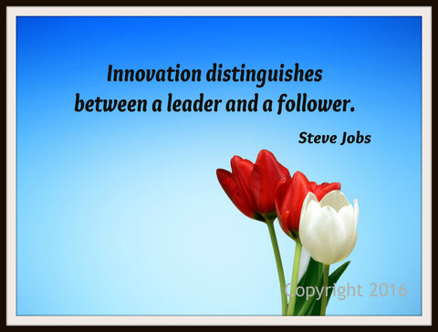 "Motivational Art Print ""Innovation"" Steve Jobs Quote, Wall Decor, 8 x 10"" Unframed Print, Motivational Quote"