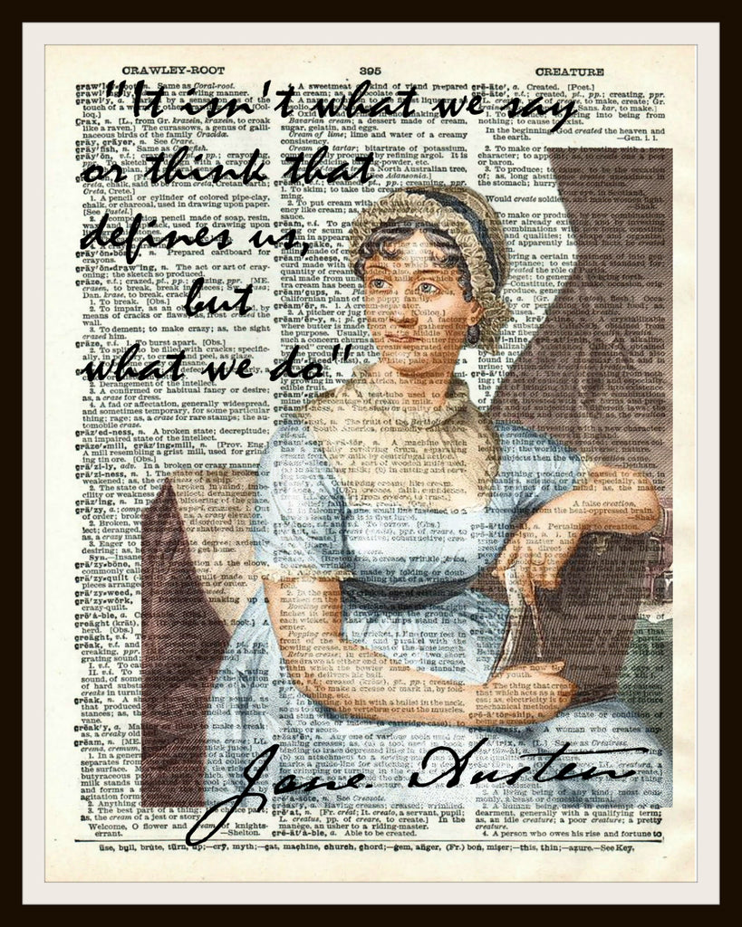 Jane Austin Dictionary Art Print Poster
