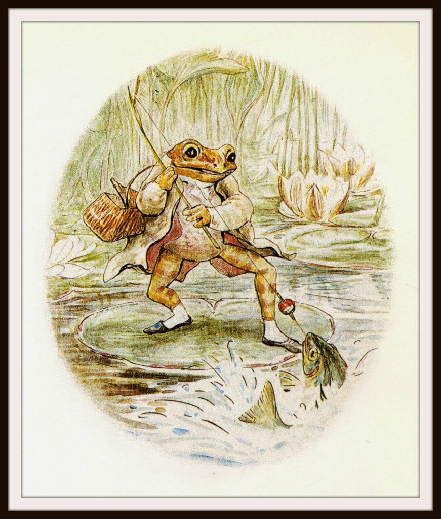 Jeremy Fisher by Beatrix Potter Art Print 8 x 10""