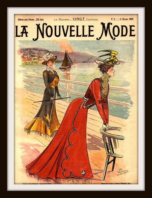 "French Magazine Paris ""La Nouvelle Mode"" Vintage Reproduction Art Print"