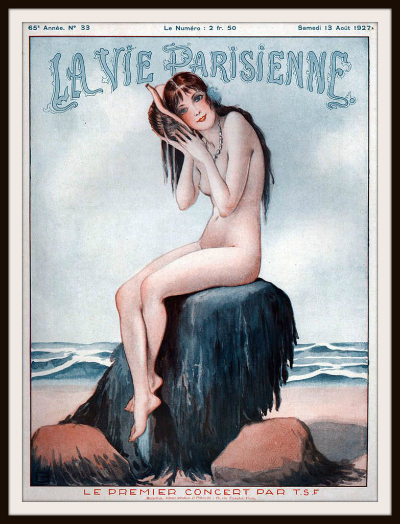 "French Magazine Paris ""La Vie Parisienne"" Vintage Reproduction Art Print"