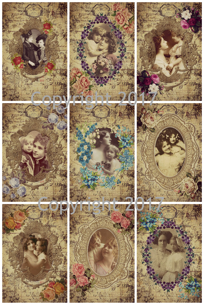Mother and Child Framed Images Collage Sheet 103 for Mother's Day