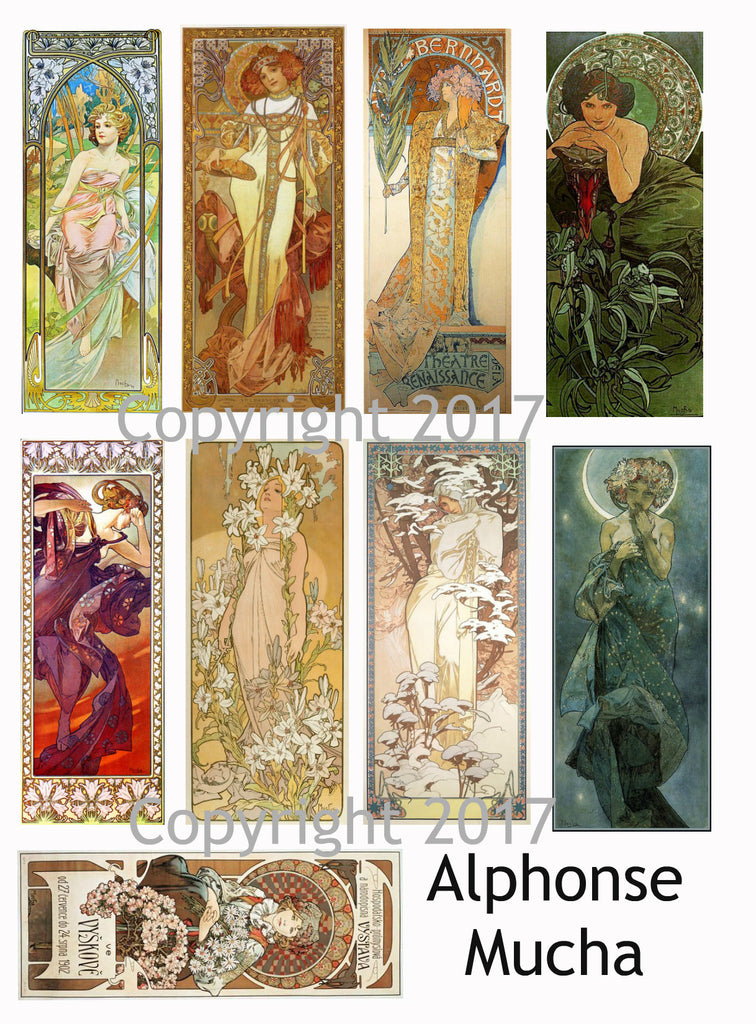 Alphonse Mucha Art Images Collage Sheet #108
