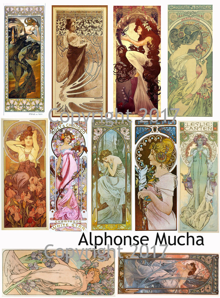 Alphonse Mucha Art Images Collage Sheet #109
