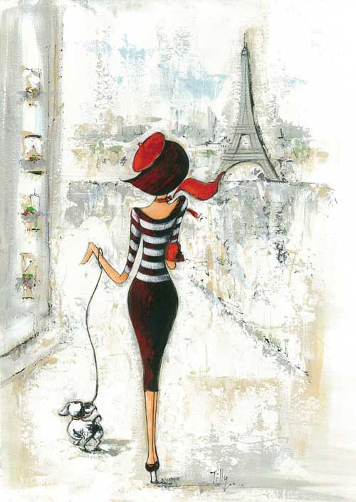 Vintage Parisian Art Print  Reproduction Art Print