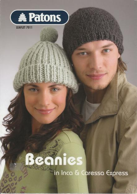 Patons 8 Knit Beanies Patterns, Hat Patterns, Ebook, Instant Download