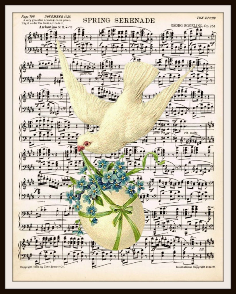Spring Time Sheet Music Art Print