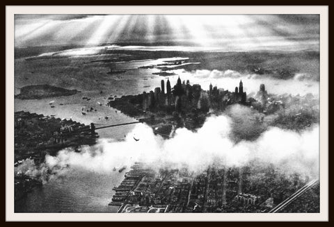 "Photograph Wall Decor ""Sunset Over New York""   8 x 10 Photo Print  Unframed"