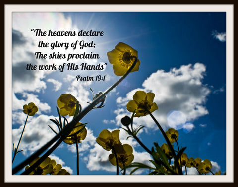 "Photograph Wall Decor  ""The Heavens Declare  Prints of Peace 8 x 10 Photo Print  Unframed"
