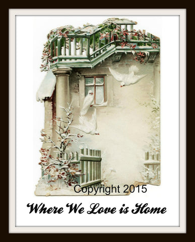 "Motivational ""Where We Love Is Home"", Wall Decor, 8 x 10"" Unframed Printed Art Image"