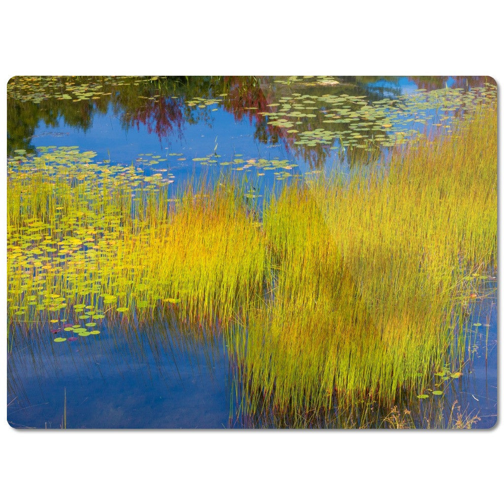 "Glass Cutting Board ""Pond Grass"""