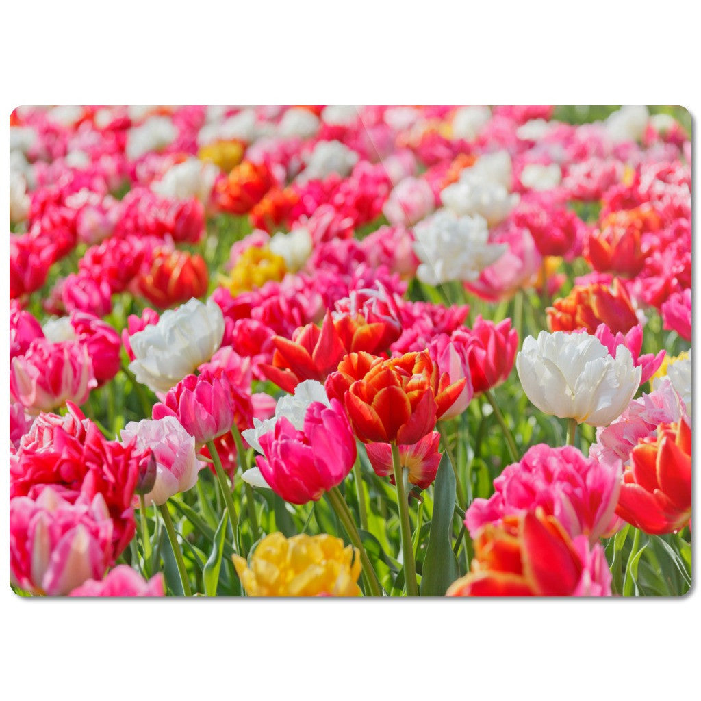 "Glass Cutting Board ""Tulips"""