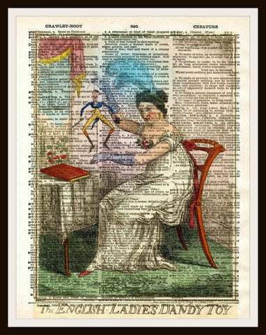 A Dandy Toy Art Print Reproduction Ephemera Dictionary Background Art Poster