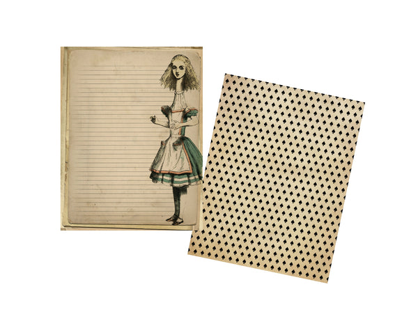Alice in Wonderland #4: 8 Journal or Scrapbook Pages