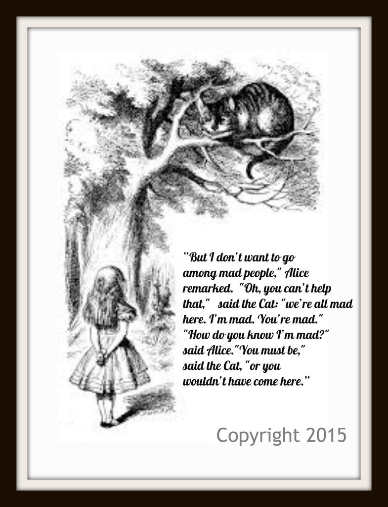 Vintage Alice in Wonderland Art Print Wall Decor #3, 8 x 10 Photo Print  Unframed  John Tenniel Illustration