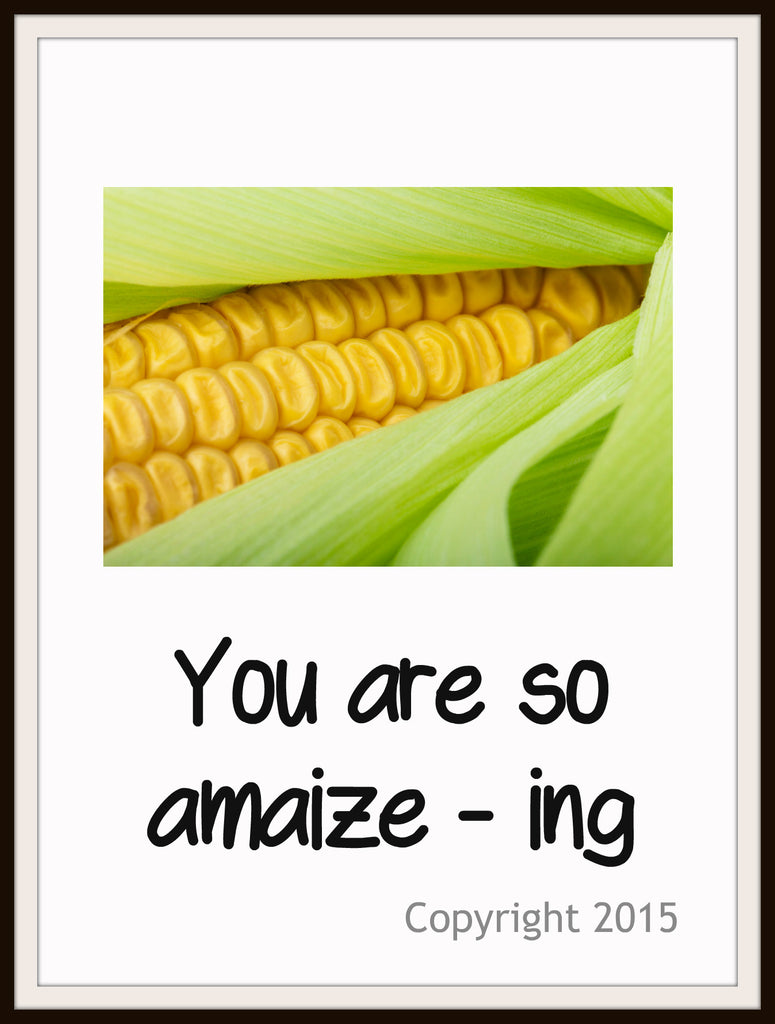 "Art Print  ""You Are So Amaiz-ing"", Wall Decor, 8 x 10"" Unframed Printed Art Image"